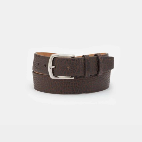 W.Kleinberg American Bison Belt in Chocolate Brown