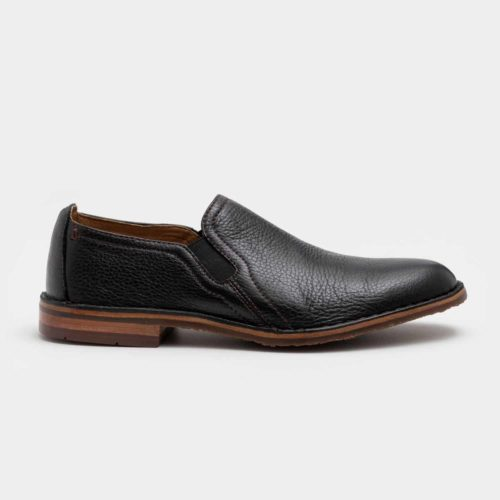Trask Blaine Slip-on in Black Norwegian Elk