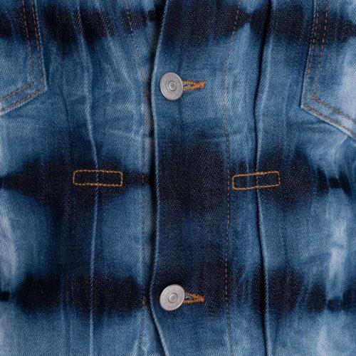 Eidos Denim Jacket in a Blue & Navy Tie-Dye