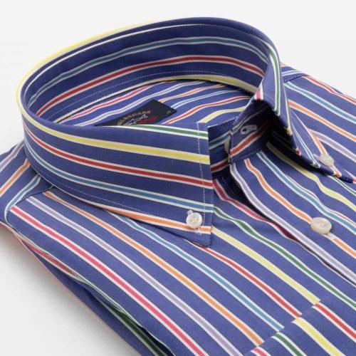 Paul & Shark Yachting Sport Shirt in a Blue Stripe