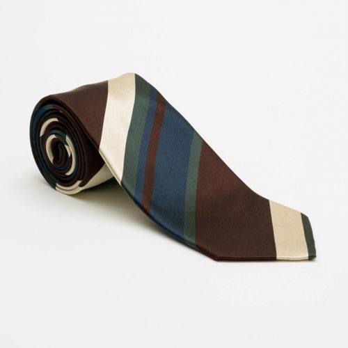 Bigi Cravatte Satin Stripe Tie in Burgundy