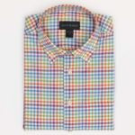 Scott Barber Shirt in a Colorful Magenta Check
