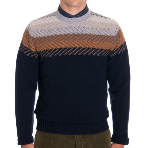Peter Millar Aprés Ski Crewneck Sweater in Navy