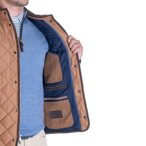 Peter Millar Essex Quilted Vest in Bullet