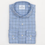 Emanuel Berg Super Soft Plaid Shirt in Blue