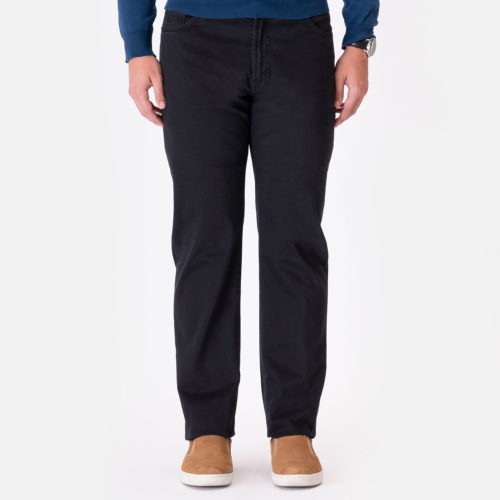 Marco Pescarolo 5 Pocket Cotton Cash Stretch Pant in Black