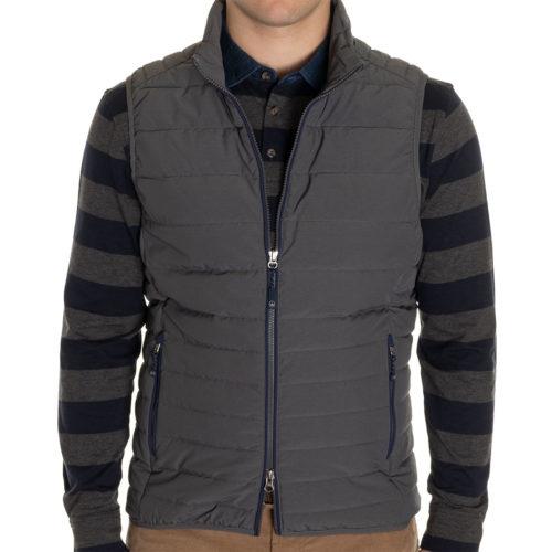 Peter Millar Crown Elite Light Vest in Dark Grey