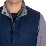 Peter Millar Stealth Performance Reversible Vest in Navy & Grey