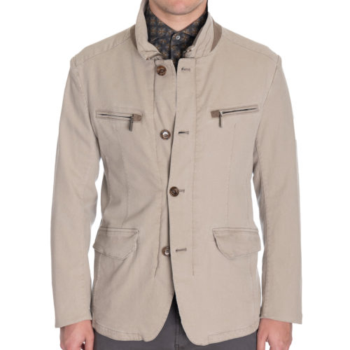 Gimos x Khakis Washed Pique Field Jacket in Tan
