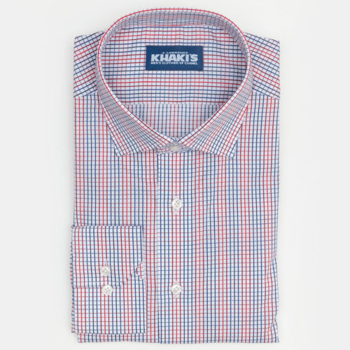 Khakis Brand Shirt : Graph Check in Red & Blue