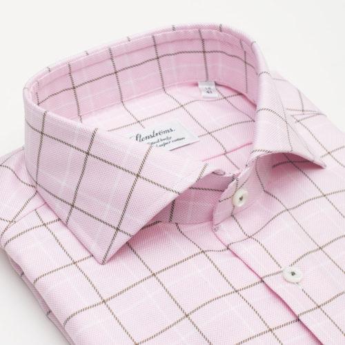 Stenstroms Dress Shirt in a Pink Windowpane