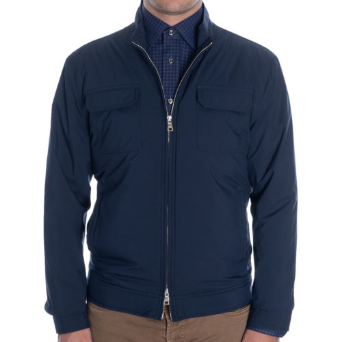 Peter Millar All-Weather Flex Bomber in Navy