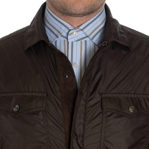 Isaia Light Weatherproof Jacket in Brown