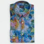 Paul & Shark Sport Shirt in a Blue Floral Print