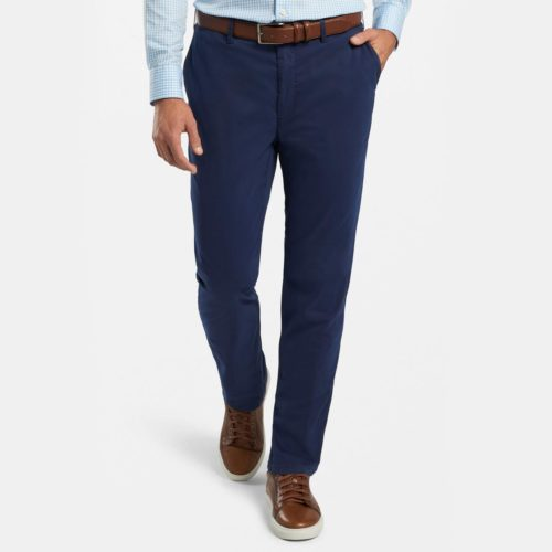Peter Millar Cotton Silk Stretch Pant in Navy