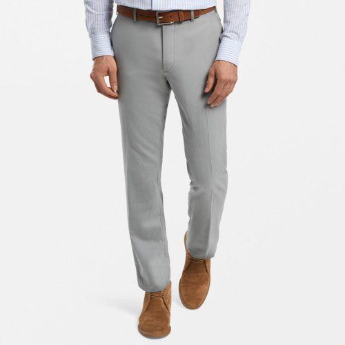 Peter Millar Wool & Cotton Trouser in Argento Grey