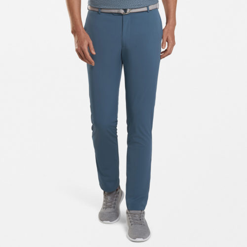 Peter Millar Performance Flat Front Pant in Blue Agate