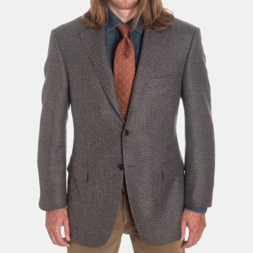 Canali Sport Coat in a Textured Grey Weave