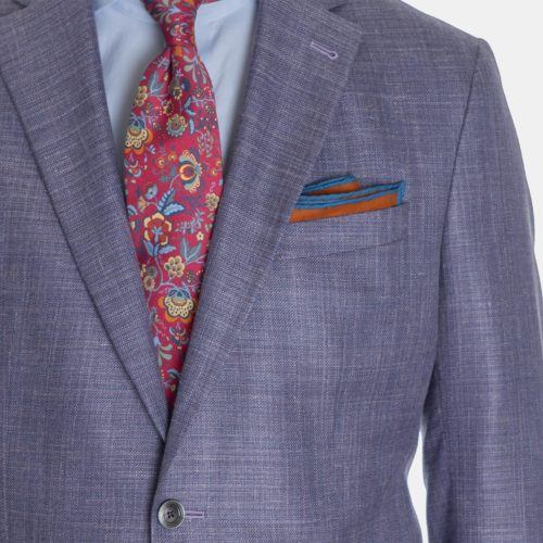 Khakis Sport Coat in a Loro Piana Lavender Solid