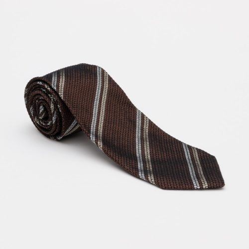 Kuska Handmade Tie in a Coffee Brown