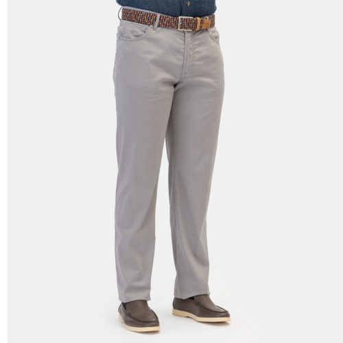 Marco Pescarolo Cotton Silk 5 Pocket in Gray