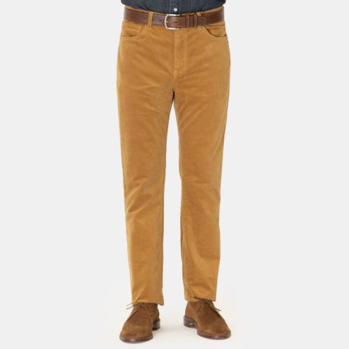 Monfrere Velvet 5 Pocket Pant in Oak
