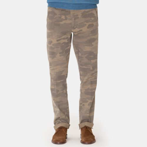 Eleventy Kieran Trouser in Washed Camo