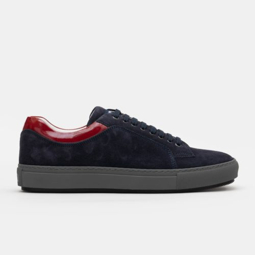 LO.WHITE Lace-up Sneaker in Navy Suede