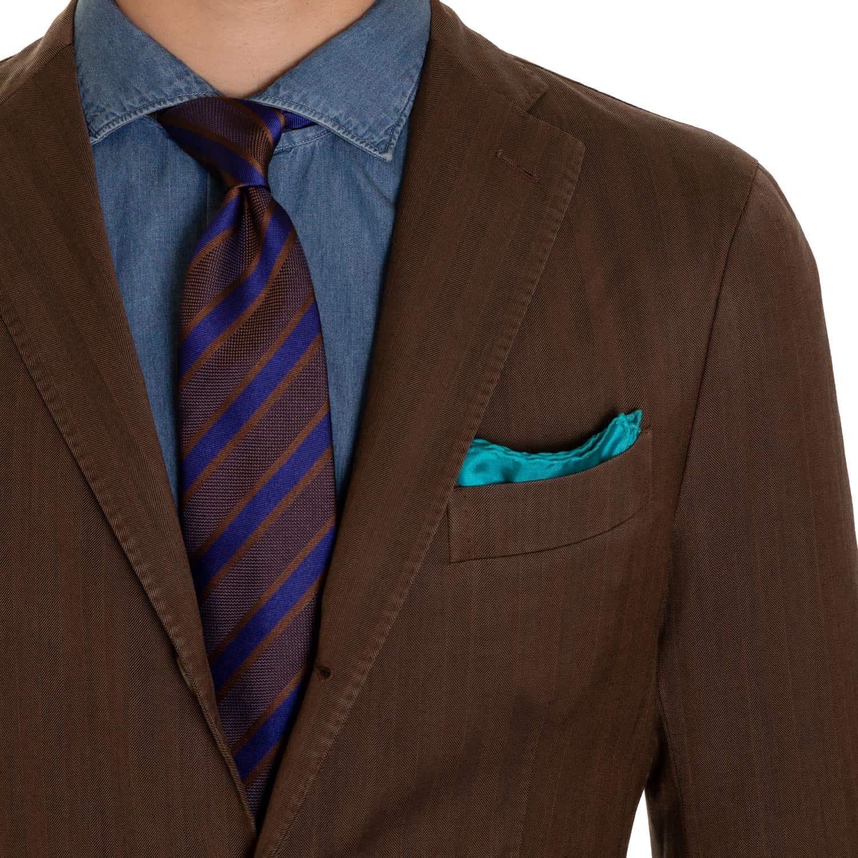 Boglioli Brown Herringbone Soft Jacket