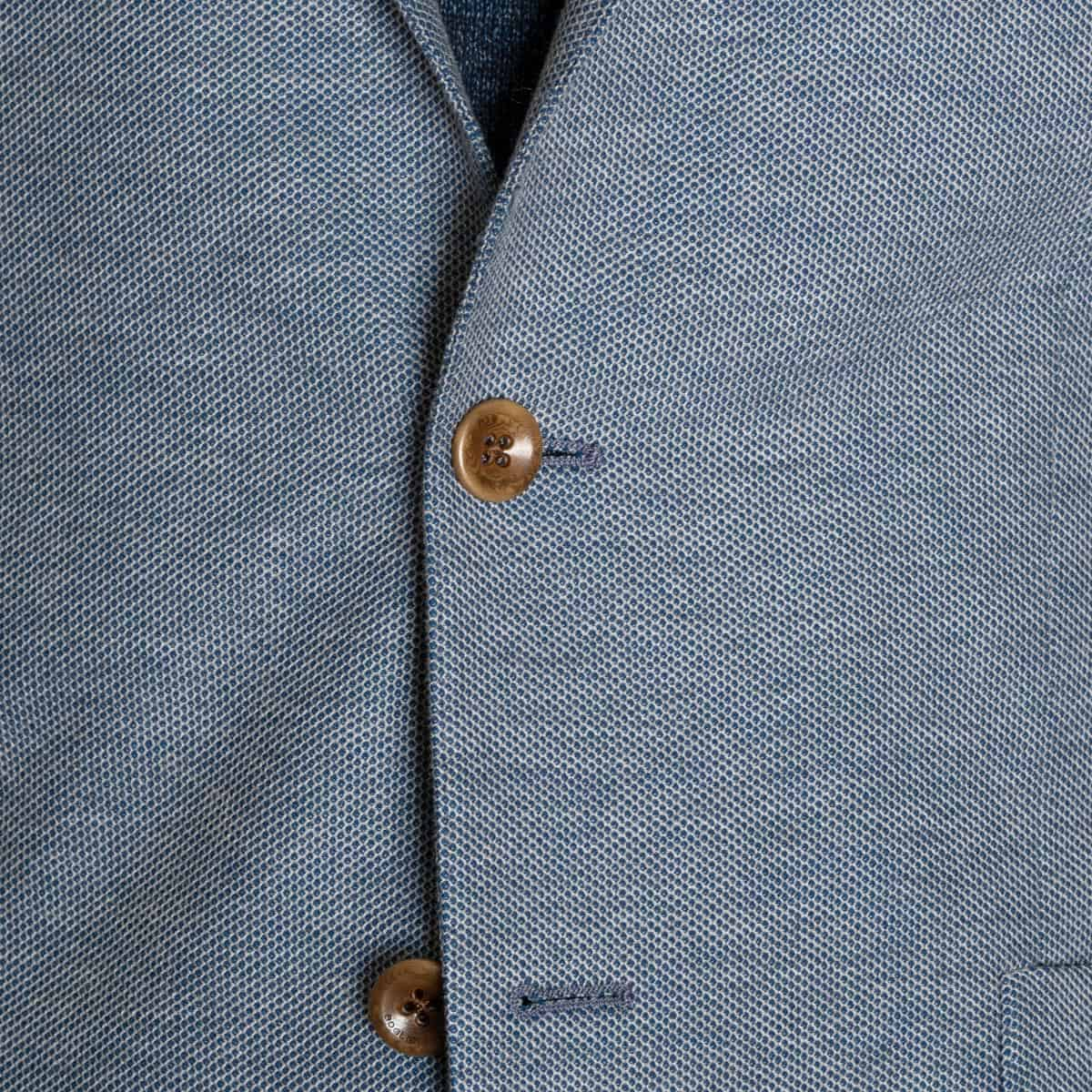 Boglioli Light Blue Knit Cotton Soft Jacket