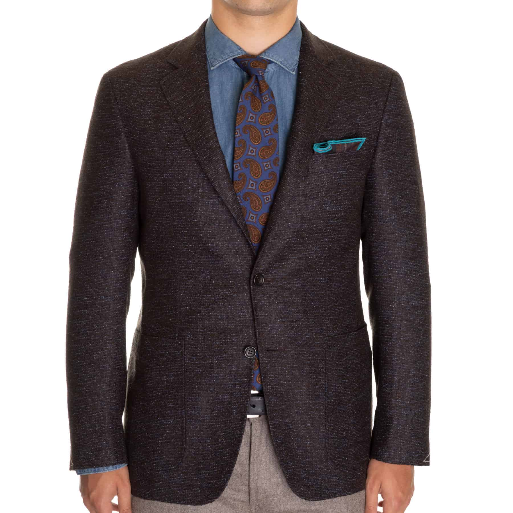 Canali Charcoal Mix Kei Sport Coat