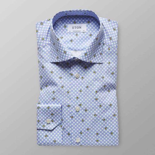 Eton Contemporary Fit Avocado Print Shirt in Blue
