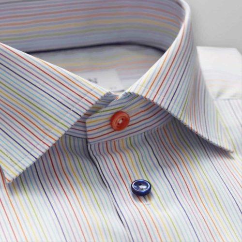 Eton Contemporary Fit Multi-striped Shirt