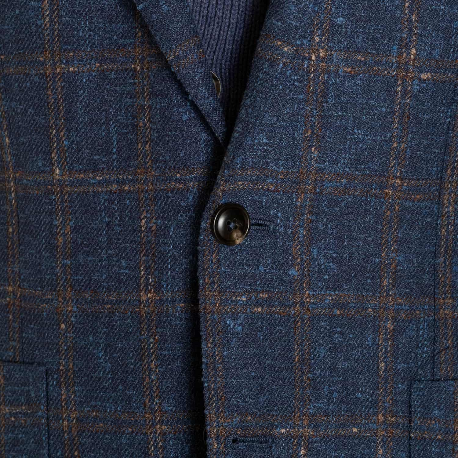 Peter Millar Crown Windowpane Soft Jacket in Blue