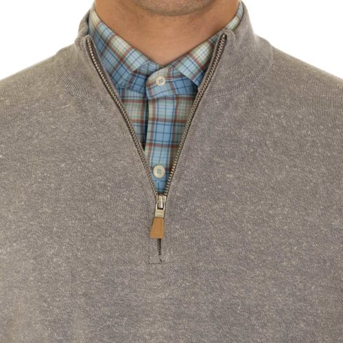 Peter Millar Crown Cool Quarter-Zip Sweater in Grey