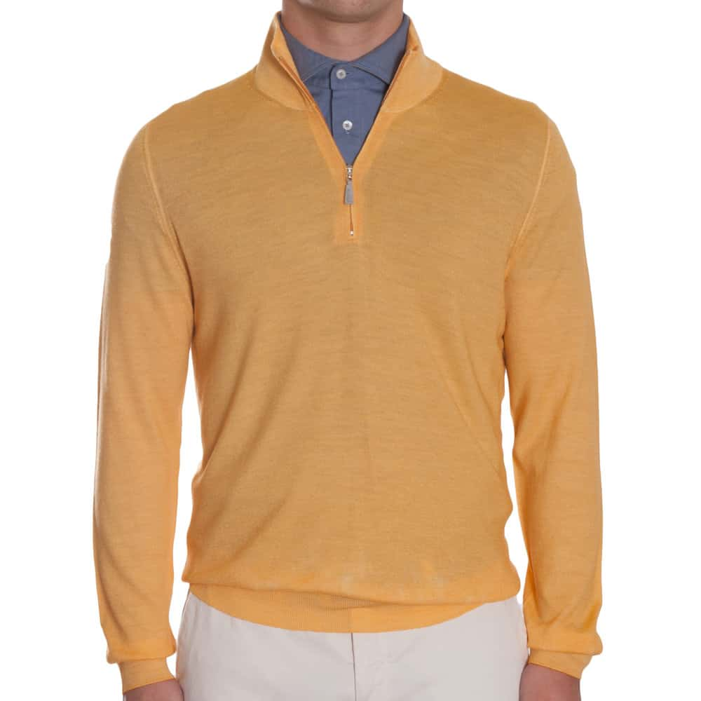 Khakis Italy Yellow Wool Quarter Zip