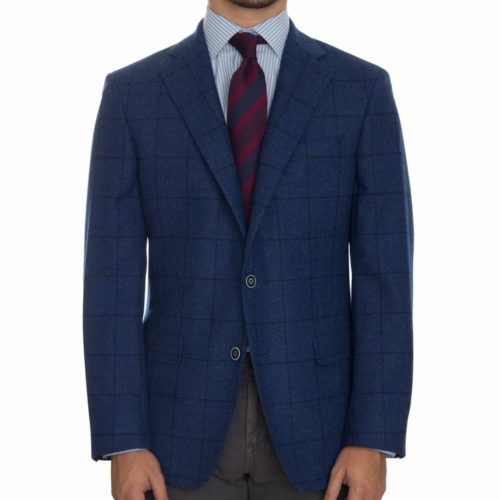 Samuelsohn Royal Navy Windowpane Sport Coat
