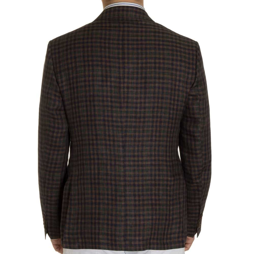 Khakis House Brand Brown Linen Check Sport Coat