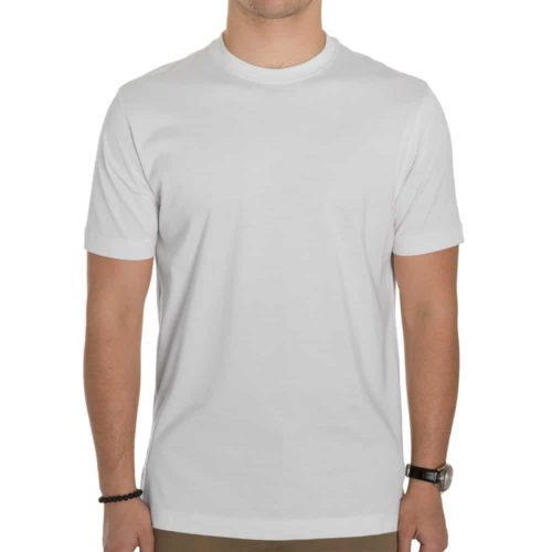 Left Coast Tee Cotton S/S Crew in White