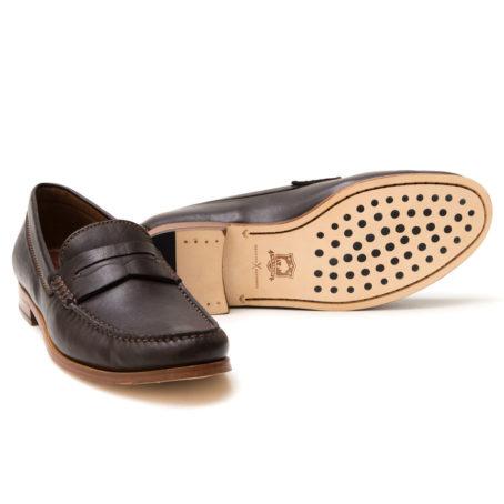Trask Sadler Brown Sheepskin Loafer